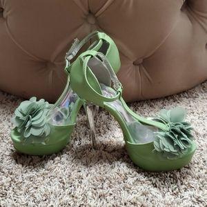 Fabric Flowered Heels